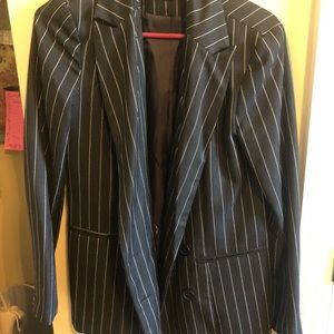 Black and white pin striped blazer